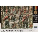US Marines in Jungle, WWII era