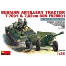 German artillery Tractor T-70(r) & 7,62cm Gun FK288(r)
