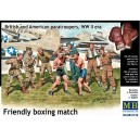 Friendly boxing match Brtitish an American paratroopers WWII era