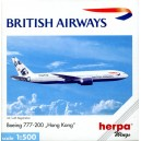 British Airways Boeing 777-200 Hong Kong