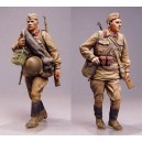 Red Army men. Summer 1941. Two figures