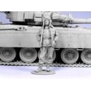 Russian modern tank officer. Chechniya 1994-2005. One figure