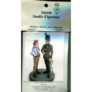The Spanish Contessa - Officer, 95th Rifles, and Spanish Lady Guerilla Leader, ca1810