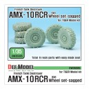 French AMX-10 RCR Tank Destroyer 6x6 Sagged Wheel set