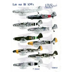 Late war Bf 109's