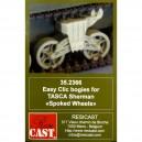 Easy Clic Bogies for TASCA Sherman Spoked Wheels