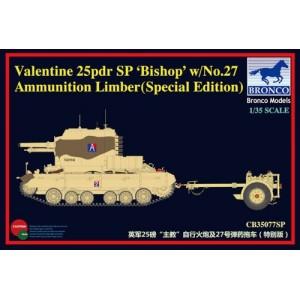 "Valentine 25Pdr SP ""Bishop"" with No.27 Ammunition Limber"