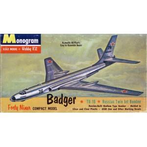 Badger TU-16 Russian Twin Jet Bomber