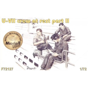 3 x crew figures at rest set 2 for U-Boat Type VIIc