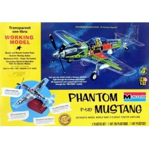 Monogram Phantom Mustang F-51D (P-51) See-Thru Working Model