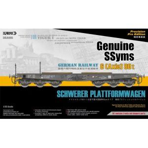 German Railway Schwerer Plattformwagen Typ SSyms 6 (Axle) 80 t