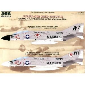 VMFA-232 Red Devils USMC F-4J Phantoms in the Vietnam War