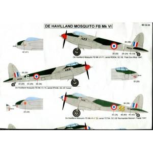 De Havilland Mosquito FB VI in French & Foreign Service