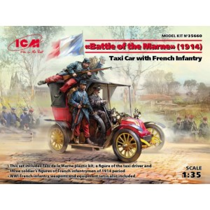 Battle of the Marne 1914 - Taxi Car with French Infantry
