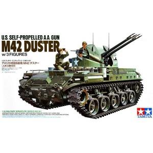U.S. Self-propelled A.A. Gun M42 Duster w/3 Figures