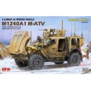U.S MRAP All Terrain Vehicle M1240A1 M-ATV With full interior