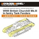 WWII British Churchill Mk.III Infantry Tank Fenders