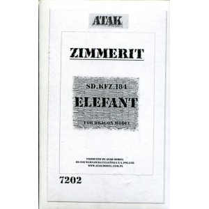 Zimmerit Sd.Kfz. 184 Elefant for Dragon Model