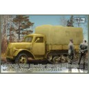 V3000S/SSM Maultier German Half Track with tall cargo bed and tarpaulin