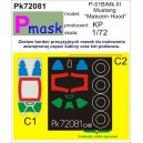 """P-51B/Mk.III Mustang """"Malcolm Hood"""" canopy and wheel masks for KP kit"""
