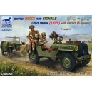 British Recce And Signals Light Truck (2 Kits)with Crew (5 figures)